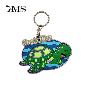 2D customizable turtle shape soft pvc keychain