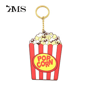 Popcorn customized PVC key chain gift