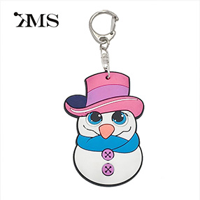 Christmas snowman shape  PVC Figure key chain