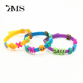 Top Quality Children adjustable letter words Magnetic Silicone Wristband