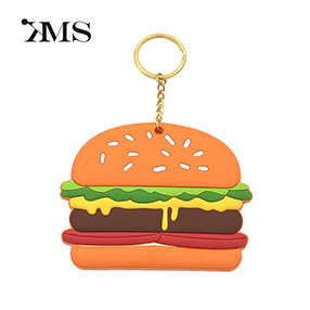 food Hamburger personalized pvc custom key chain
