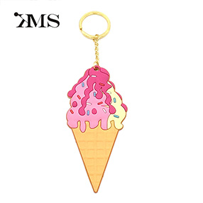 Wholesale ice cream OEM plastic PVC key chain