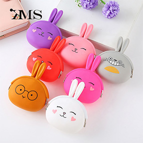 Small Silicone Coin Purse Rabbit Coin Currency
